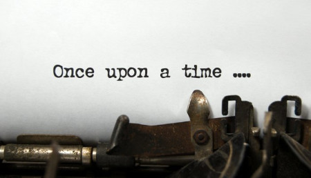 "Typewriter with the words ""Once upon a time..."" on it"